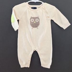 Baby Gap owl romper/knit jumper.